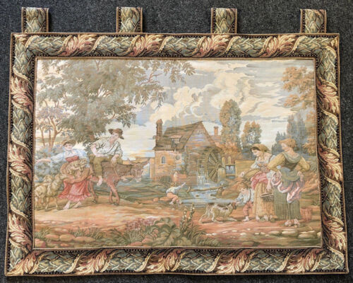 Tapestry - Country Landscape -  West Germany - Vintage