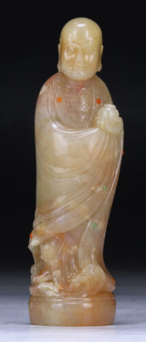A Chinese Soapstone Carved Damo