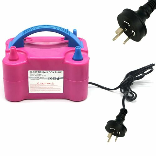 Electric Balloon Inflator Pump 2 Nozzle High Power Air Blower Portable AU Plug <br/> AU Plug Holiday Party Balloons Inflator Promotion hot