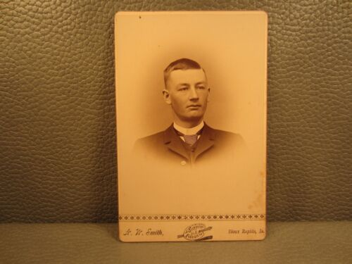 Edwardian Antique Cabinet Card Photo of a Young Man