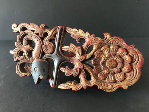 Old Balinese Carved Wooden Hook …beautiful collection item