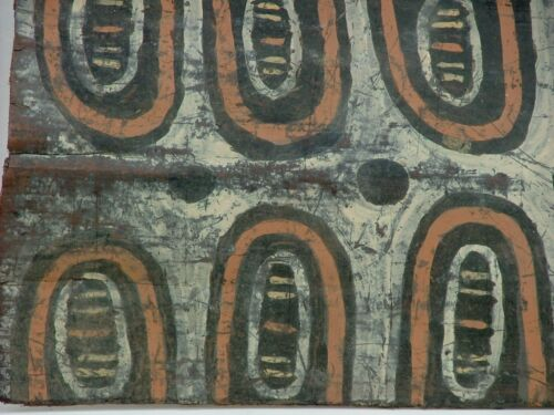 PAPUA NEW GUINEA BARK PAINTING c.1950 INDIGENOUS SEPIK RIVER OCEANIC TRIBAL ART