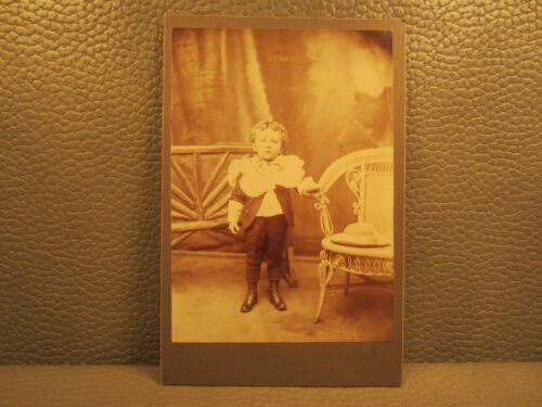 Victorian Antique Cabinet Card Photo of Young Boy