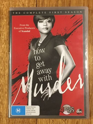 How To Get Away With Murder : Season 1 (DVD, 2015, 4-Disc Set)