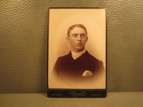 Victorian Antique Cabinet Card Photo of a Young Man