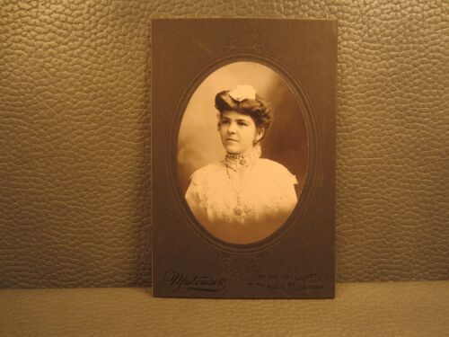 Victorian Antique Cabinet Card Photo of Young Teenage Girl