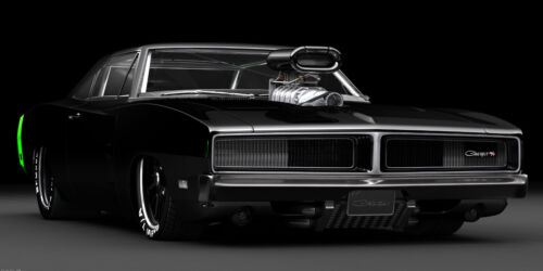 1969 DODGE CHARGER R/T PRO STOCK CLASSIC CAR ART POSTER PRINT STYLE B 18x36 9MIL