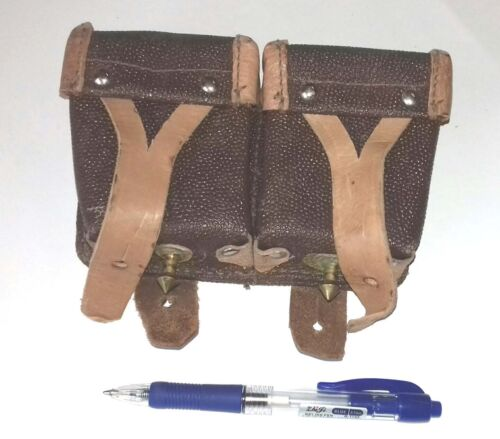 USSR Dated (1949-58) Original Soviet Russian MOSIN NAGANT AMMO DOUBLE POUCH NEWOriginal Period Items - 13982