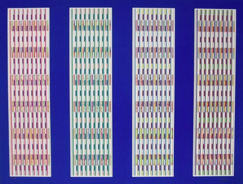 Four Visual Orchestrations, Limited Edition Silkscreen, Yaacov Agam - LARGE