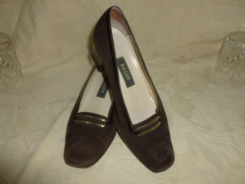 BALLY SWITZERLAND BROWN SUEDE SHOES  UK  3.5     EU 35.5