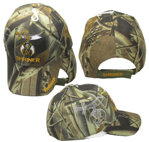 0e93ef0664924 Shriner Emblem Camo Camouflage With Shadow Embroidered Cap Hat Masonic