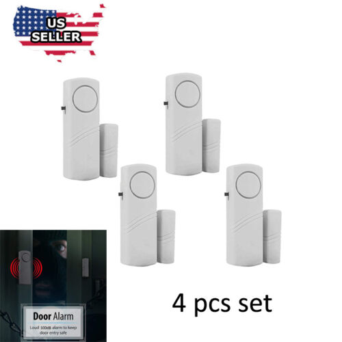 4 Home Safety Burglar Alarm Wireless System Security Device Door Window  Sensor