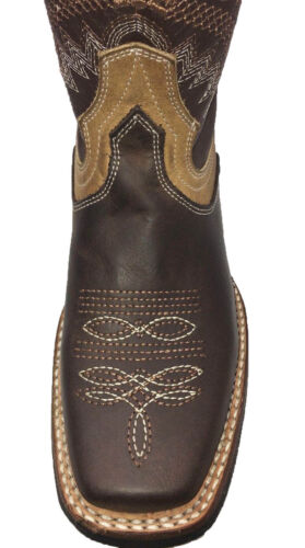 Women's Western Square Toe Cowgirl Boot - De Dama Vaquero Cafe Bota-Brand New