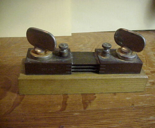 STEAMPUNK Pat. May 16 1893 ANTIQUE 300 AMP 100 MV. FUSE No. 4974  PAPERWEIGHT