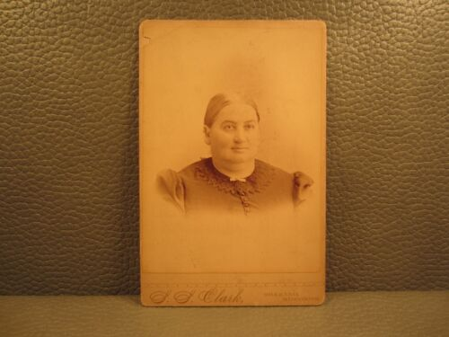 Victorian Antique Cabinet Card Photo of a Woman
