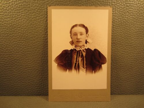 Victorian Antique Cabinet Card Photo of A Young Girl