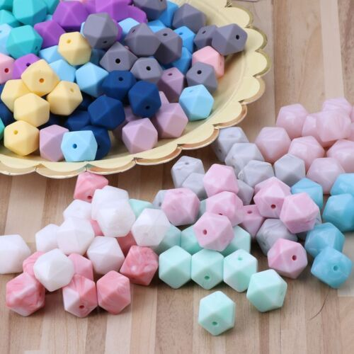 10pcs Silicone Beads Baby Teething Teether Bead Baby Toy DIY Pacifier Accessory