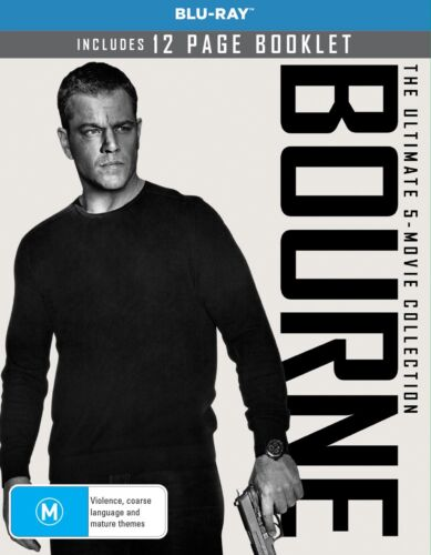 Bourne The Ultimate 5 Movie Collection Box Set Blu-ray Region B NEW