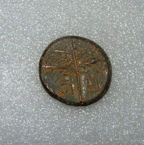 ancient bronze coin of the second Jewish revolt against rome no.3