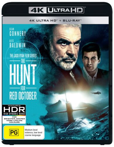 The Hunt for Red October 4K with Blu-ray UHD Region B NEW