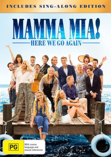 Mamma Mia Here We Go Again with Digital Download DVD Region 4 NEW