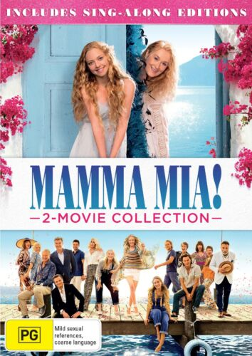 Mamma Mia 2 Movie Collection with Digital Download DVD Region 4 NEW