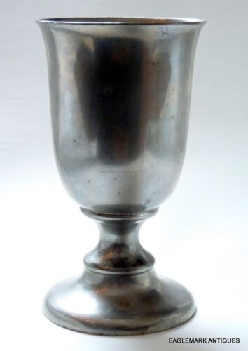 Mint Condition American Pewter Goblet/Chalice, attr. Reed & Barton