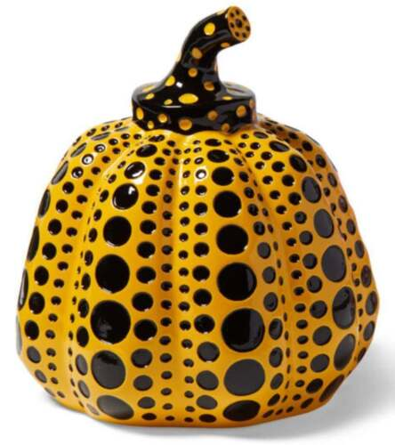 Pumpkin (Yellow & Black), Painted Cast Resin Sculpture, Yayoi Kusama