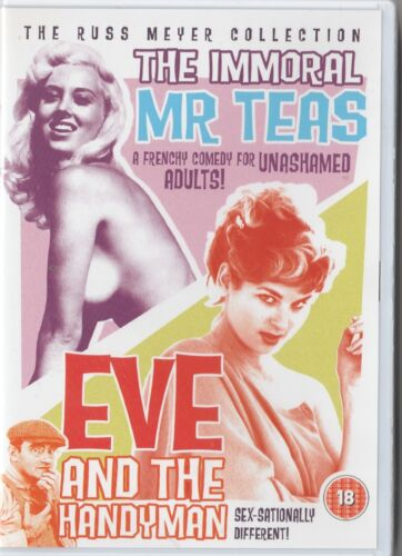Russ Meyer's The Immoral Mr Teas + Eve and the Handyman Arrow films DVD vg used