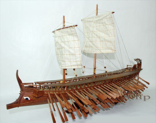 Ancient Trireme  Greek Warship 400 B.C  - Handcrafted Model Ship
