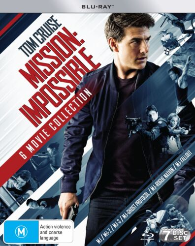 Mission Impossible The 6 Movie Collection Box Set Blu-ray Region B NEW