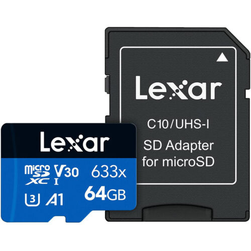 US Seller High-Performance Lexar 64GB 64 G GB 95MB/s 633x Micro SD SDXC MicroSD