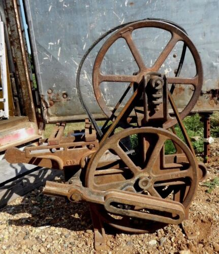 Steampunk Cast Iron Windmill Water Pump Jack Cherokee IA Primitive Farm Fresh