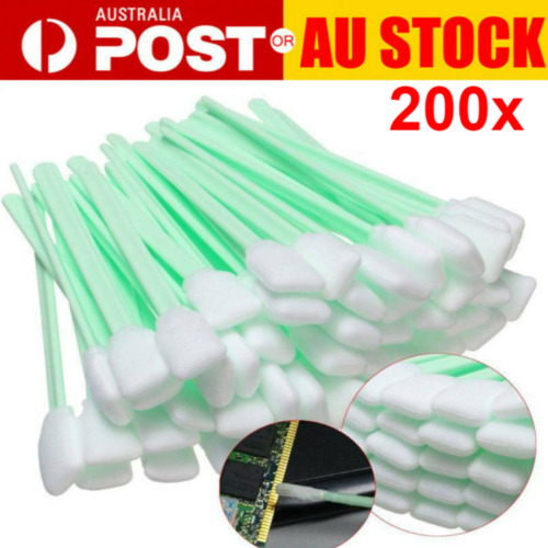 200XSquare Rectangle Foam Cleaning Swab Sticks for Solvent Format Inkjet Printer