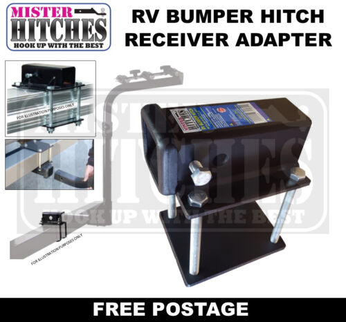 RV BUMPER HITCH RECEIVER ADAPTER SUITS BIKE CARRIER RACK ATV HAYMAN REESE STYLE