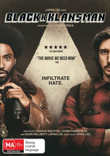 BlackkKlansman DVD Region 4 NEW