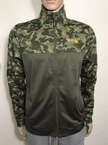 The North Face Men's 100 Cinder Full Zip Jacket New Taupe Green Camo S M LXL XXL