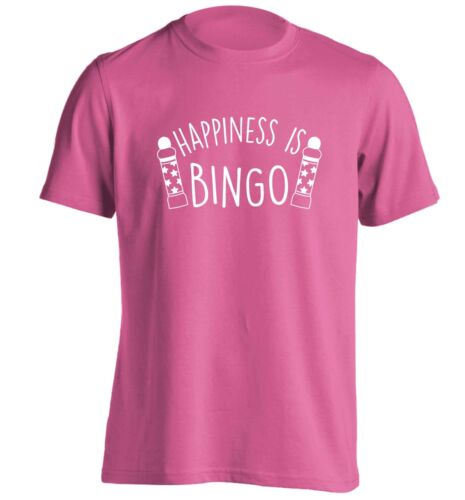 Happiness is bingo, t-shirt game numbers full house line dabbers eyes down 5876