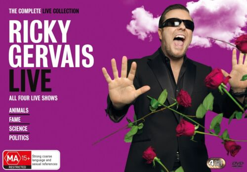 Ricky Gervais The Complete Live Collection DVD Region 4 NEW