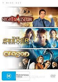 NIGHT AT THE MUSEUM + THE SEEKER + ERAGON - BRAND NEW & SEALED 3-DISC DVD