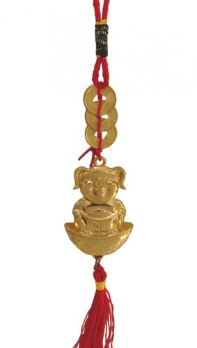 Feng Shui Shinning Gold Pig Lucky Charm for Year of the Pig