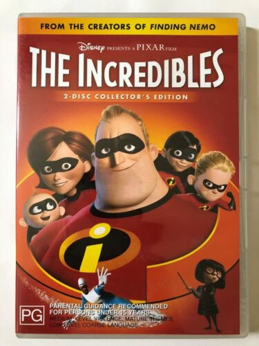 The Incredibles [PG] (2 DVD, 2004, R4)