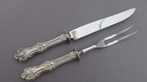 WHITING KING EDWARD STERLING SILVER 2PC CARVING SET