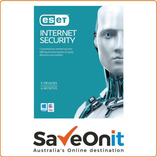 Eset Internet Security 5 Devices 1 year License key 2021