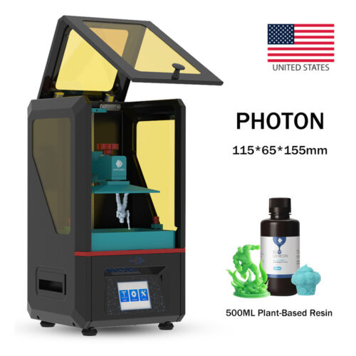US ANYCUBIC Photon SLA UV Light-Cure 3D Printer 2K TFT + 500ml Plant-Based Resin