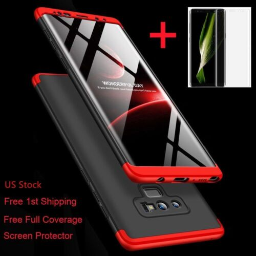 For Galaxy Note 10/9/8/S10/S9/S8/Plus/Shockproof 360° Case+Screen Protector