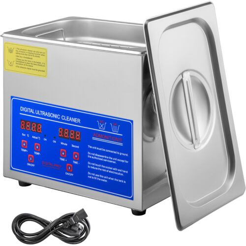 Ultrasonic Cleaner 3L Liter INew Stainless Steel Industry Heated Heater w/Timer <br/> 40KHZ✔220W✔0-30 Min✔LED Display✔304 Stainless✔w/Basket