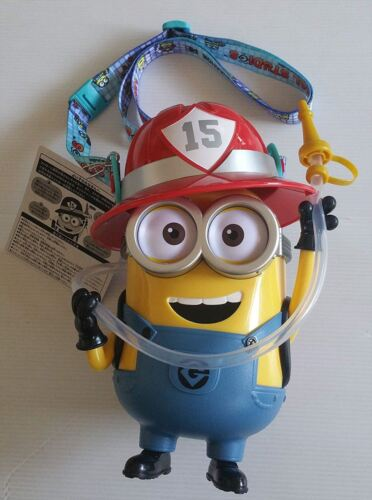 USJ official limited edition 2018 Minion drink bottle Firefighter minion F/S
