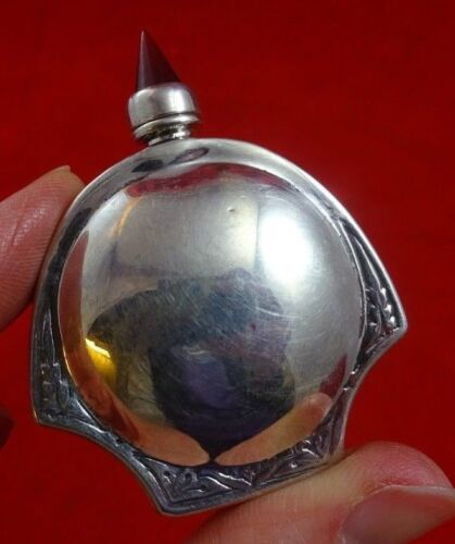 Silver Scent Bottle with Glass Finial (#4519)