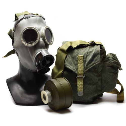 Genuine Soviet era Gas Mask respiratory chemical OD army issue military MC-1 NEWGas Masks - 158440